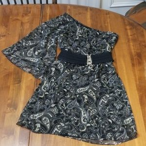 NWT Wet Seal One-Shoulder Paisley Dress